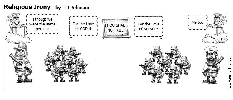 Religious Irony by LJ Johnson