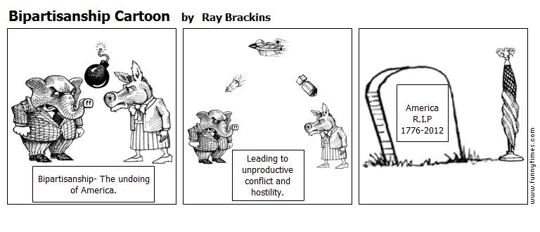 Bipartisanship Cartoon by Ray Brackins