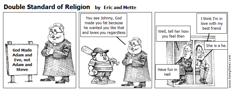 Double Standard of Religion by Eric and Mette