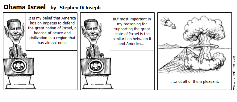Obama Israel by Stephen DiJoseph