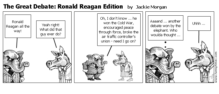 The Great Debate Ronald Reagan Edition by Jackie Morgan
