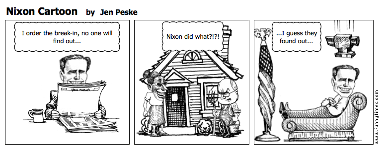 Nixon Cartoon by Jen Peske