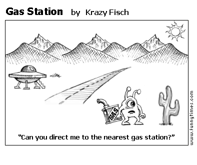 Gas Station by Krazy Fisch