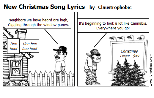 New Christmas Song Lyrics by Claustrophobic