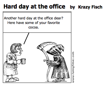 Hard day at the office by Krazy Fisch
