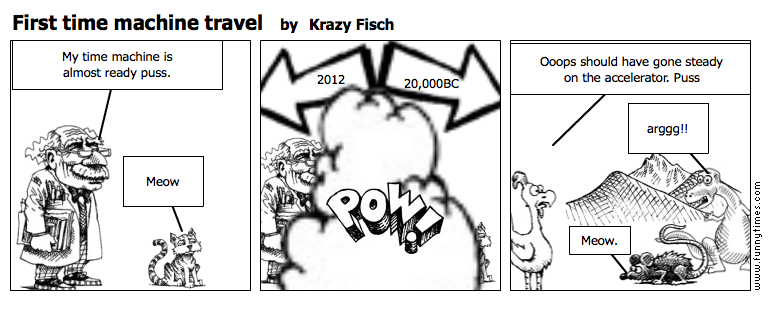 First time machine travel by Krazy Fisch