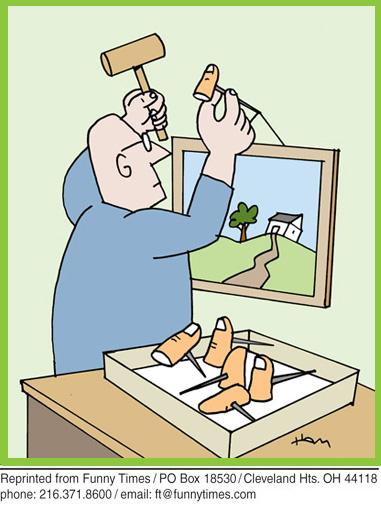 Funny ham hammer tools  cartoon, December 26, 2012