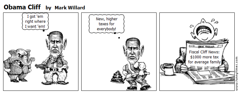 Obama Cliff by Mark Willard