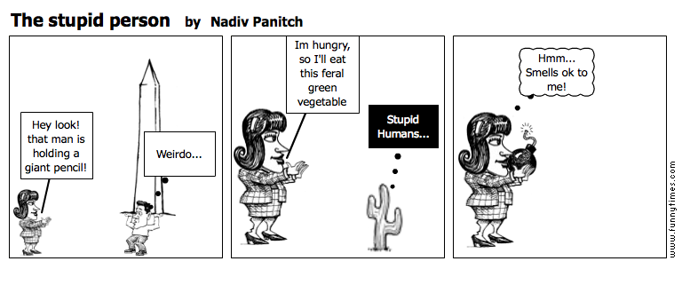 The stupid person by Nadiv Panitch