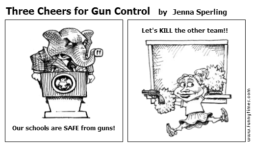 Three Cheers for Gun Control by Jenna Sperling