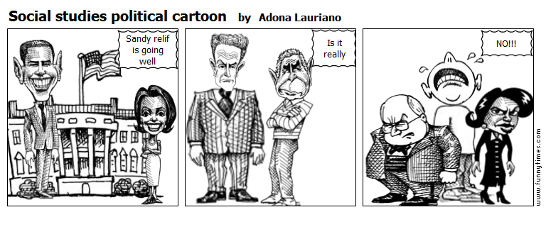 Social studies political cartoon by Adona Lauriano