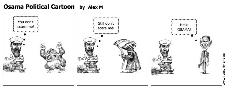 Osama Political Cartoon by Alex M