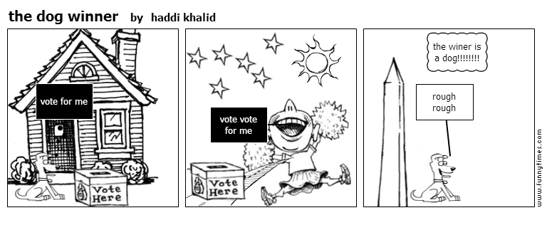 the dog winner by haddi khalid