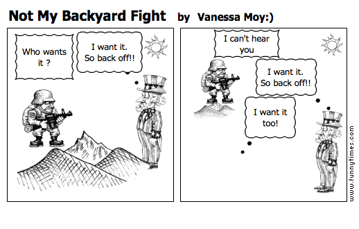 Not My Backyard Fight by Vanessa Moy