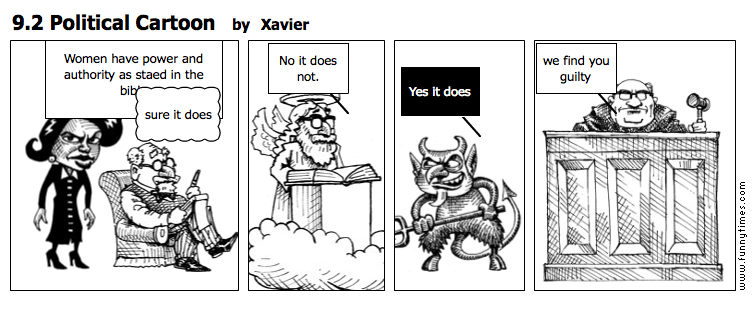 9.2 Political Cartoon by Xavier