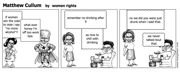 Matthew Cullum by women rights