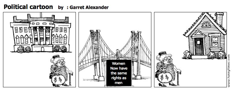 Political cartoon by  Garret Alexander