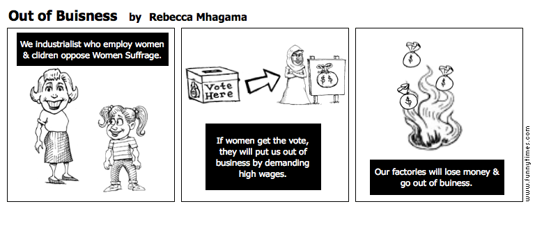 Out of Buisness by Rebecca Mhagama