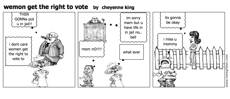 wemon get the right to vote by cheyenne king