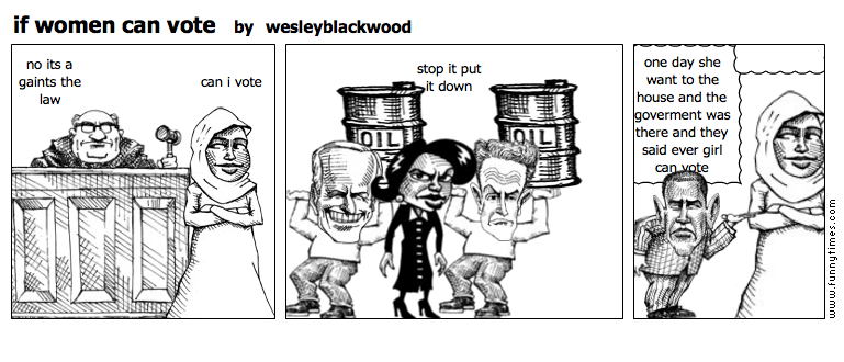 if women can vote by wesleyblackwood