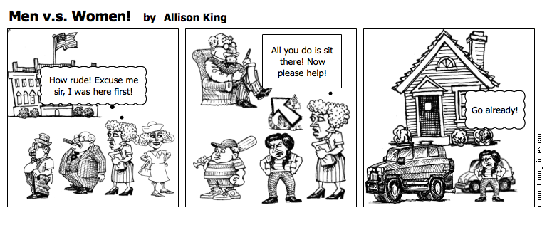 Men v.s. Women by Allison King