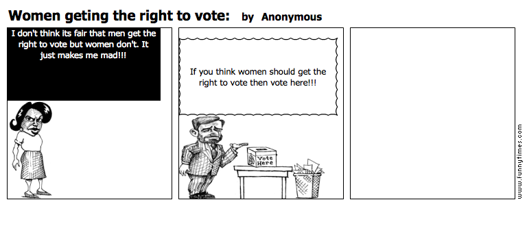 Women geting the right to vote by Anonymous