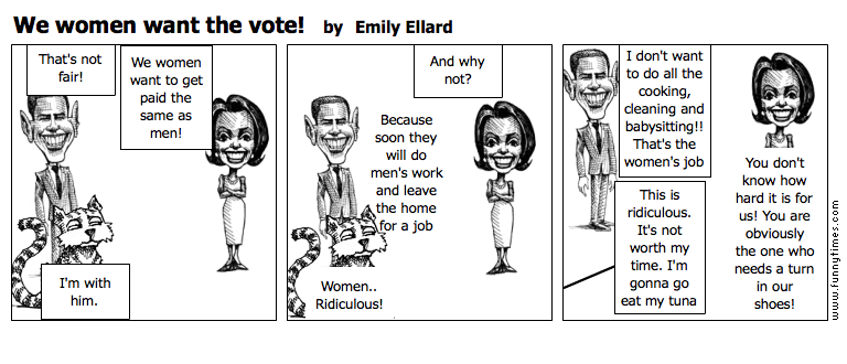 We women want the vote by Emily Ellard
