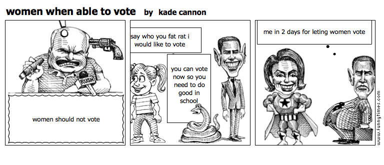 women when able to vote by kade cannon
