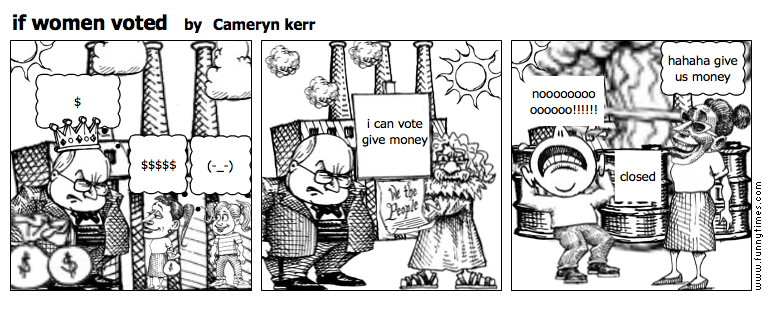 if women voted by Cameryn kerr