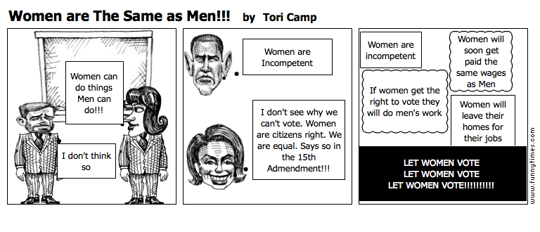 Women are The Same as Men by Tori Camp