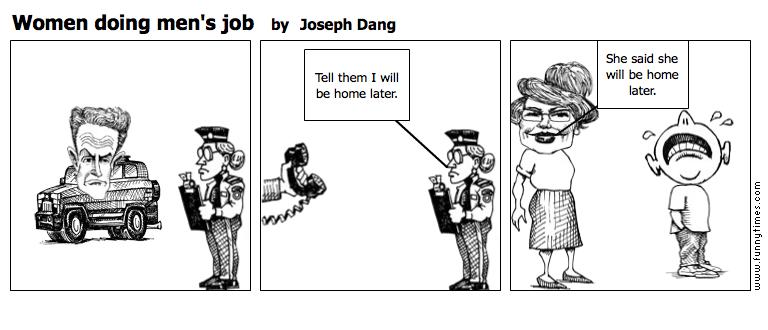 Women doing men's job by Joseph Dang