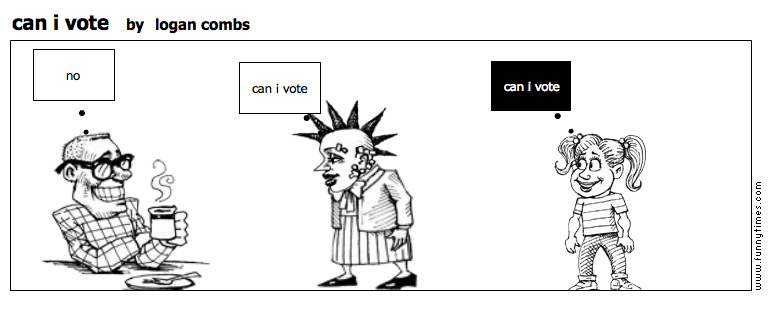can i vote by logan combs