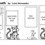 Cat teaching a Dog math