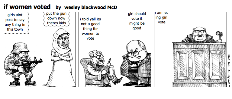 if women voted by wesley blackwood McD