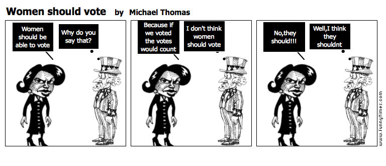 Women should vote by Michael Thomas