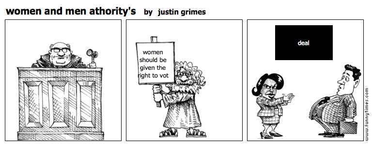 women and men athority's by justin grimes