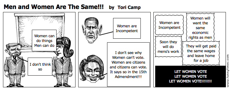 Men and Women Are The Same by Tori Camp