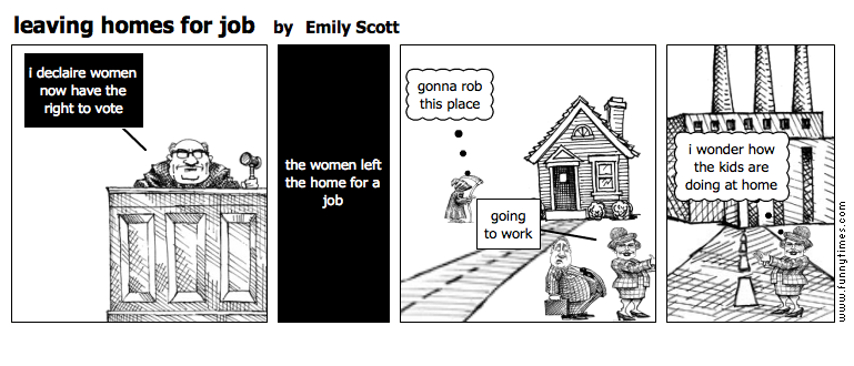 leaving homes for job by Emily Scott