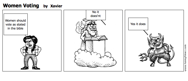 Women Voting by Xavier