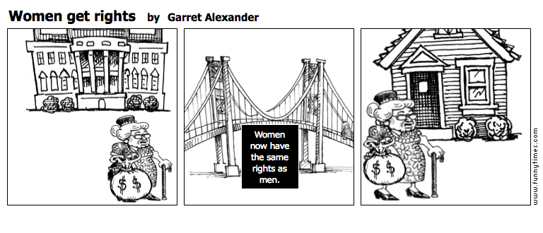Women get rights by Garret Alexander