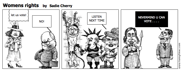 Womens rights by Sadie Cherry