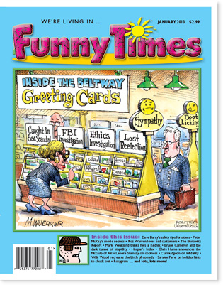 Funny Times January 2013 issue cover