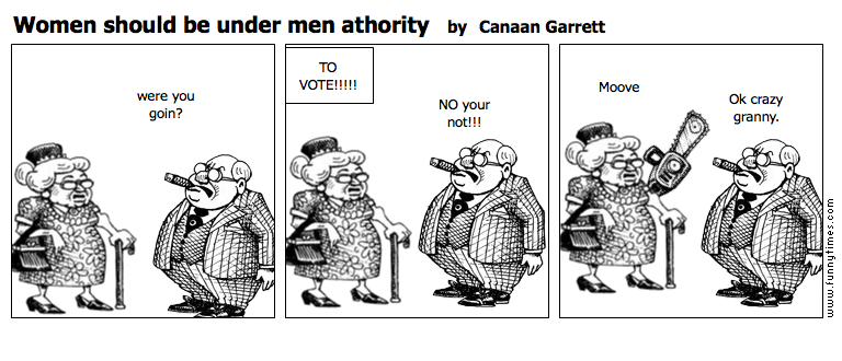 Women should be under men athority by Canaan Garrett