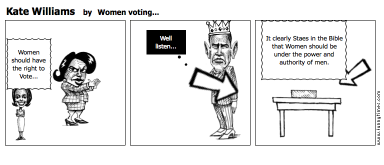 Kate Williams by Women voting...