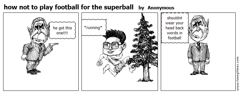 how not to play football for the superba by Anonymous