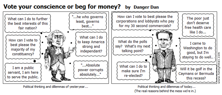 Vote your conscience or beg for money by Danger Dan