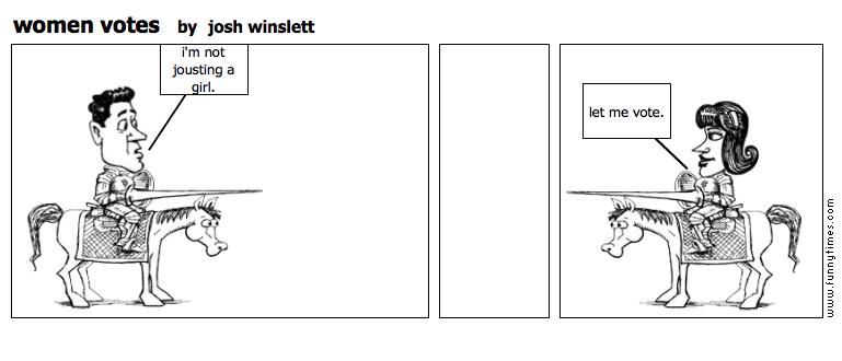 women votes by josh winslett