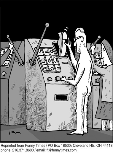 Funny ham casino vegas  cartoon, February 20, 2013
