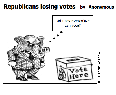 Republicans losing votes by Anonymous