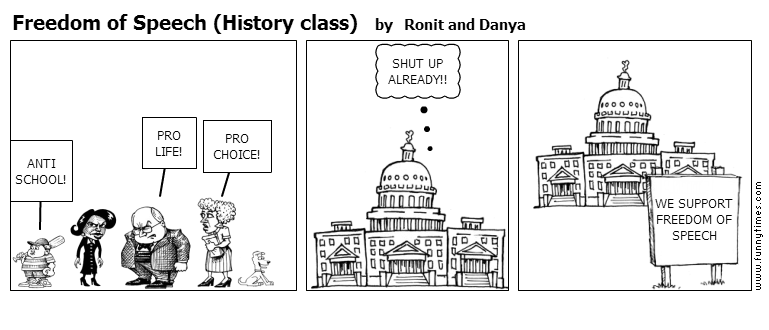 Freedom of Speech History class by Ronit and Danya